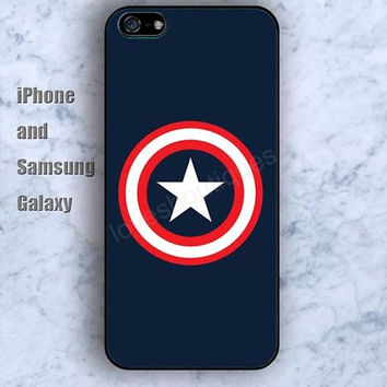 Captain America blue iPhone 5/5S case Ipod Silicone plastic Phone cover Waterproof