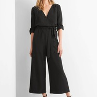 Tie-belt culotte jumpsuit | Gap