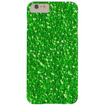 Lime Green Sparkly Faux Glitter look Texture Barely There iPhone 6 Plus Case