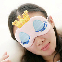 Cute Eye Blinder Sleep Mask Padded Shade Cover Rest Relax Crown Blindfold