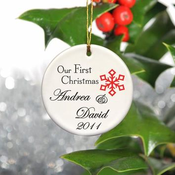 Our First Christmas Ornament - Style 4