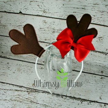 Reindeer Headband Ears ITH Embroidery Design