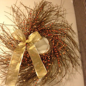 Pip Berry Wreath, Fall, Twiggy Wreath 25 Inch Autumn Harvest