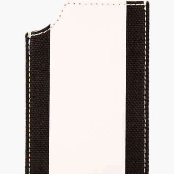 Burberry Prorsum Beige Leather And Linen Iphone Case