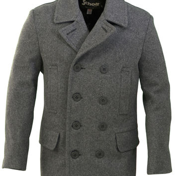 Men's Slim Fitting Wool Peacoat DU704I