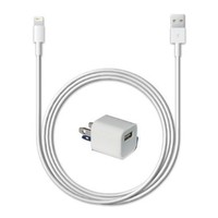 Lifestyle Accessory brand iPhone 5 Wall Charger set - Includes Universal 5 Watt Wall Power Adapter + 8 pin Lightning to USB 2.0 Charging Data Sync Cable for iPhone 5, iPhone 5G, iPod Touch 5, iPod Nano 7, iPad 4, and iPad Mini:Amazon:Cell Phones & Accessor