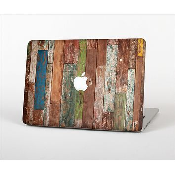 The Vintage Wood Planks Skin Set for the Apple MacBook Pro 13""
