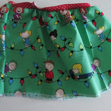 Charlie Brown Christmas Baby Girl Skirt