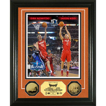 Dirk Nowitzki and Jason Kidd NBA All Star Game 24KT Gold Coin Photo  Mint