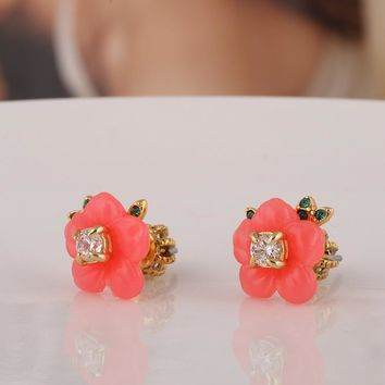 Accessory Resin Floral Earring Jewelry [6573072903]