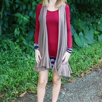 Plaid Fad Tunic in Burgundy - Two Left!
