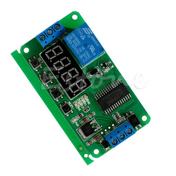 1pc Multifunction Self-lock Relay DC 12V PLC Cycle Timer Module Delay Time relay
