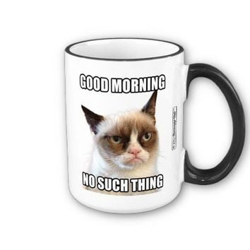 Grumpy Cat™ Good Morning - No Such Thing Coffee Mug from Zazzle.com
