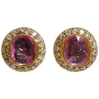 Munnu   Pink Ruby & Diamond Indo-Russian Earrings at Barneys.com