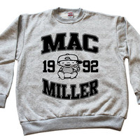 Mac Miller Sweatshirt Crewneck most dope high life wiz khalifa tees jumper Grey*