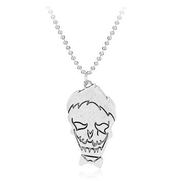 Suicide Squad Necklace Harley Quinn Joker Pendant Beaded Chain For Women Men Jewelrly