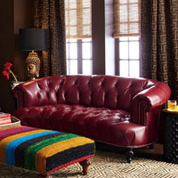 """Old Hickory Tannery Leather """"Pressley"""" Sofa - Horchow"""