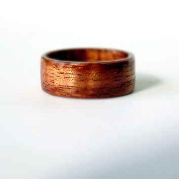 Hawaiian Koa Wood Ring Handcrafted Bentwood ring