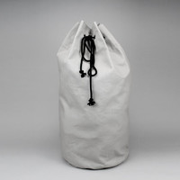 The Arnold Laundry Duffle // Grey Canvas Laundry or Duffle Bag with Rope Drawstring and Carrying Handle
