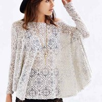 ANAMA Burnout Off-The-Shoulder Sweater - Grey Multi