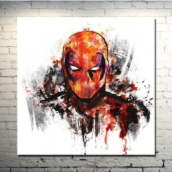 Deadpool Dead pool Taco  Superhero 2017 Marvel Hot New Art Movie Silk Poster 13x13 24x24inches Picture for Wall Decor (NEW) AT_70_6