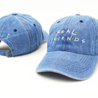 Real Friends Embroidered Baseball cotton cap Hat