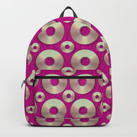 Going gold or metal on fern pop art Backpack by Pepita Selles