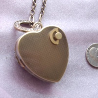 Antique Bronze Heart Shaped Music Box Locket Necklace - Choose your song