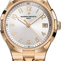 Vacheron Constantin Overseas Women's Rose Gold Diamond Automatic Swiss Watch 47560/D10R-9672