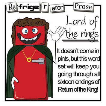 Lord of the Rings Themed Magnetic Poetry Set - LOTR