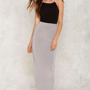Better Slate Than Never Maxi Skirt