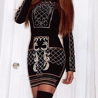 Liza Studded Bandage Dress