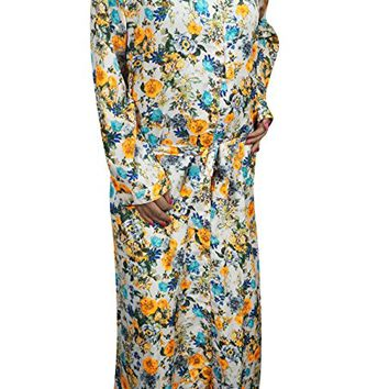 Womens Maxi Dress Button Down FLOWER HOUR Holiday Resort Fall Fashion Dresses: Amazon.ca: Clothing & Accessories