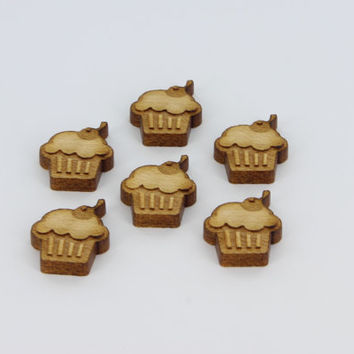 Icecream Laser Cutout Charms, Jewelry, Pendants, Earrings, Wedding, Christmas, Ornaments - Froolu Sustainable Unfinished Wood Products
