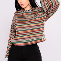 Striped For Success Top - Multi