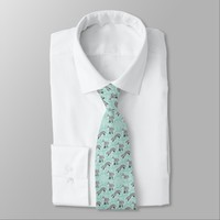 Stylish Grey Fox Animal Pattern Tie