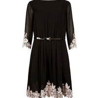 Embroidered dress - Black | Dresses | Ted Baker UK