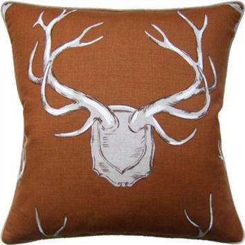 Brown Antlers Pillow