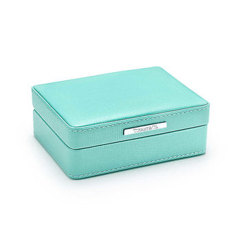 Tiffany & Co. - Accessories box in Tiffany Blue® leather, small. More colors available.