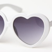New Neon Lolita Heart Shaped Funky Sunglasses