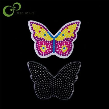 Hot Free shipping 13*9cm Bead Pegboard butterfly Shape Puzzle Template for 5 mm Perler Beads Creative DIY Educational Toys GYH
