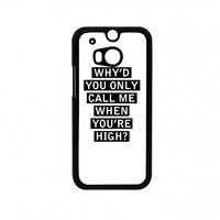 Personalised AM song lyrics HTC One M8 Case