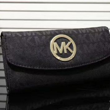 shosouvenir MK Women Leather Zipper Wallet Purse