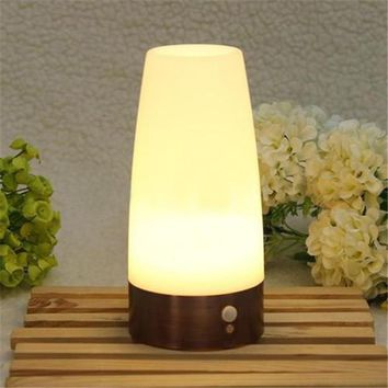 PIR Wireless led Motion Sensor Retro Bedroom Night Light Battery Powered LED Table Lamp Best Quality Nightlight for toilet seat