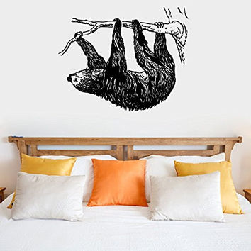 Sloth Silhouette Vinyl Wall Decal Sticker Graphic