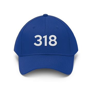 Louisiana 318nArea Code Embroidered Twill Hat
