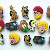 16 Scooby-doo Shoe Charms Fits Jibbitz Croc Shoes Wristband Bracelet