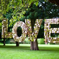 Shimmery Love Letters - Wedding Hanging Decor Prop Sign