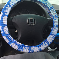 Steering Wheel Cover Made with Lilly Pulitzer Bay Blue Tusk in Sun Fabric - Summer 2015