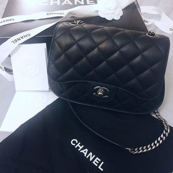 Chanel Double Flap Bag Black With Silver Hardware Limited Edition~sold Out~ - Beauty Ticks